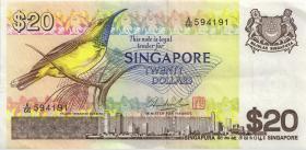 Singapur / Singapore P.12 20 Dollars (1979) (3+)