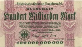 PS1224 Reichsbahn Frankfurt 100 Milliarden Mark 1923 (2)