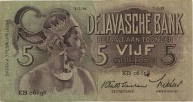 Ndl. Indien / Netherlands Indies P.078b 5 Gulden 1939 (3)