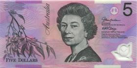 Australien / Australia P.57a 5 Dollars (20)02 BA 02 Polymer (1) last prefix