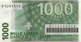 Libanon / Lebanon P.84b 1000 Livres 2008 (1)
