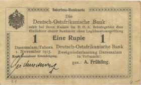 R.918b: 1 Rupie 1915 E Seidenschwarz (3+)