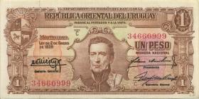 Uruguay P.035b 1 Peso 1939 Serie C (2)