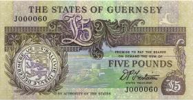 Guernsey P.53b 5 Pounds (1991-95) J 000060 (1)