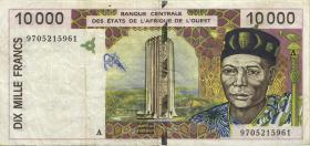 West-Afr.Staaten/West African States P.114Ae 10.000 Francs 1997 (3)