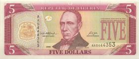 Liberia P.26c 5 Dollars 2006 (1)