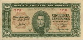 Uruguay P.034 50 Centesimos 1939 (2)