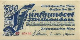 PS1124a Reichsbahn Altona 500 Milliarden Mark 1923 (1)