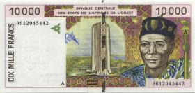 West-Afr.Staaten/West African States P.114Ad 10.000 Francs 1995 (2)