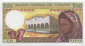 Komoren / Comoros P.10b1 500 Francs (1994) (1)