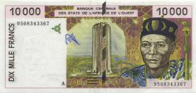 West-Afr.Staaten/West African States P.114Ac 10.000 Francs 1995 (2)