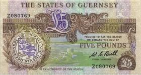 Guernsey P.49r 5 Pounds (1980-89) Z replacement (1)