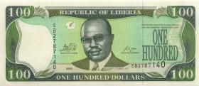 Liberia P.30e 100 Dollars 2009 (1)
