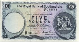 Schottland / Scotland P.342c 5 Pounds 1985 (3+)