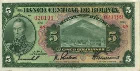 Bolivien / Bolivia P.120 5 Bolivianos 1928 (2)