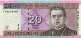 Litauen / Lithuania P.69 20 Litu 2007 (1)