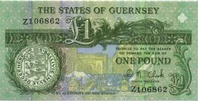 Guernsey P.52c 1 Pound (ab 1991) Z replacement (1)