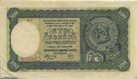 Slowakei / Slovakia P.11s 100 Kronen 1940 Specimen 2. Auflage (3)