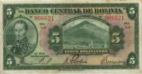 Bolivien / Bolivia P.120 5 Bolivianos 1928 (3)