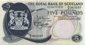 Schottland / Scotland P.330 5 Pounds 1969 (2+)