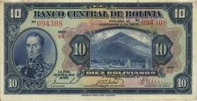 Bolivien / Bolivia P.121 10 Bolivianos 1928 (2)