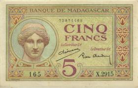Madagaskar P.35 5 Francs (ca. 1937) (2)
