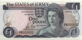 Jersey P.11b 1 Pound (1976-88) PB 000032 (1)