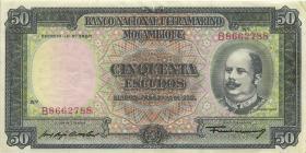Mozambique P.106 50 Escudos 1958 (3+)