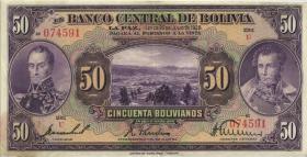 Bolivien / Bolivia P.124 50 Bolivianos L. 1928 (2)
