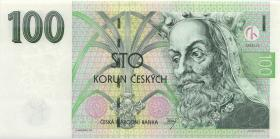 Tschechien / Czech Republic P.18d 100 Kronen 1997 F (1)