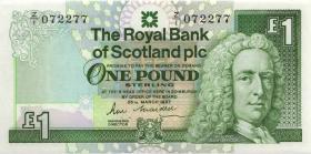 Schottland / Scotland P.346r 1 Pound 1987 Z/40 replacement (1)