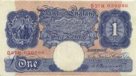 Großbritannien / Great Britain P.367a 1 Pound (1940-48) (1/1-)
