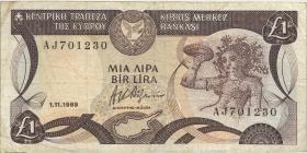 Zypern / Cyprus P.53a 1 Pounds 1.11.1989 (3)