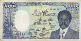 Gabun / Gabon P.10a 1000 Francs 1990 (1-)