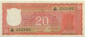 Indien / India P.061a 20 Rupien (1970) (1)