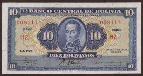 Bolivien / Bolivia P.130 10 Bolivianos  L.1945 (1)