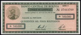 Bolivien / Bolivia P.189 500.000 Pesos Bolivianos 1984 (1)