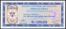 Bolivien / Bolivia P.192C 1.000.000 Pesos Bolivianos 1985 (1)