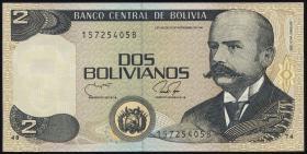 Bolivien / Bolivia P.202b 2 Bolivianos (1990) (1)