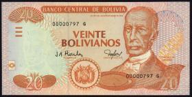 Bolivien / Bolivia P.229 20 Bolivianos (2005) (1)