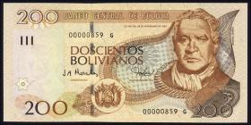 Bolivien / Bolivia P.232 200 Bolivianos (2005) (1)