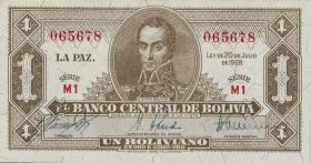 Bolivien / Bolivia P.128a 1 Boliviano L. 1928 (1)