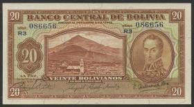 Bolivien / Bolivia P.131 20 Bolivianos L. 1928 (1)