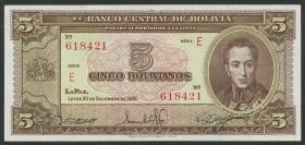 Bolivien / Bolivia P.138a 5 Bolivianos  L.1945 (1)