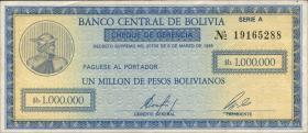 Bolivien / Bolivia P.190 1.000.000 Pesos Bolivianos 1985 (1)