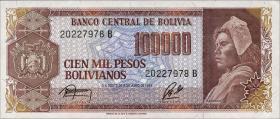 Bolivien / Bolivia P.171 100.000 Pesos Bolivianos 1984 (1)