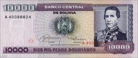 Bolivien / Bolivia P.169 10000 Pesos Bolivianos 1984 (1)