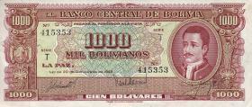 Bolivien / Bolivia P.149 1000 Bolivianos L. 1945  (2)