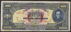 Bolivien / Bolivia P.146 1000 Bolivianos L. 1945 (3)