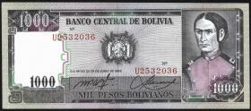 Bolivien / Bolivia P.167 1000 Pesos Bolivianos 1982 (1)